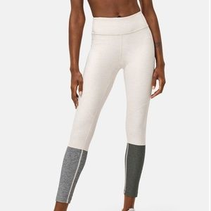 Outdoor Voices 7/8 Dipped Warmup Legging Tan Gray